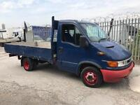 2004 iveco daily 2.3 hpi lwb 13.5 foot alloy dropside pickup 1 owner low miles