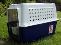 Dog Transport Crate, IATA Approved. Size 78(L) x 52(W) x 60(H)cm. Used once