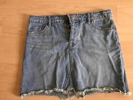 new look demin skirt