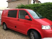 VW T5 Camper / Day Van 1.9TDI SWB Tornado Red U shape seating