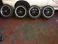 4x100 4x108 Multifit Deep Dish Alloy Wheels Not ROTA BBS XXR AXE MX5 Polo Corsa Swap