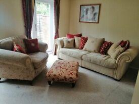 David Gascoigne Luxurious Living Room Suite - Sofa, Cuddle Chair & Foot Rest