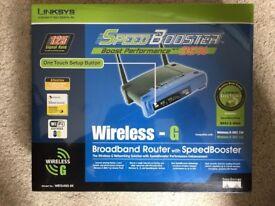 Linksys WRT54GS-UK Wireless-G Broadband Router with Speedbooster