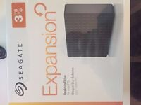 Seagate Expansion 3 TB USB 3.0 Desktop 3.5 inch External Hard Drive for PC and Xbox One - Black