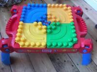 Megabloks table plus bricks