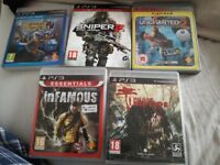 5 ps 3 games
