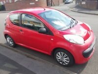 Citroen C1 Vibe in Red, 3 door, Central Locking, 1 L, Manual, 2006, £20 Tax, 12 Months MOT