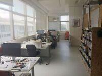 Desk space available in friendly creative design studio/workshop - Brighton