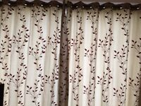 Excellent quality curtains fully lined 90 x 90 inches