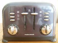Morphy Richards 44733 Accents 4 Slice Toaster (Black)