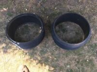 2 x Polypipe Manhole Chamber Risers UG431, Dia 460mm, Height 215mm