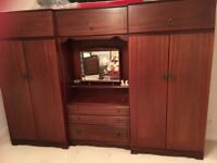 Double Wardrobes , dressing table with drawers , bedside units and headboard