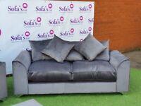 Brand New Dylan Plush Velvet Fabric 3+2 / Corner Sofa / Swivel Chair / Footstool