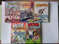 5 x VICTOR ANNUALS - 1964, 65, 68, 86, 92. GOOD CLEAN COMPLETE CONDITION - SEE MORE IMAGES.
