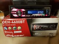 CAR HEAD UNIT PIONEER MP3 CD PLAYER WITH BLUETOOTH USB AUX 4x 55 AMPLIFIER AMP STEREO RADIO BT