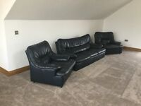 Blue leather Sofa for Sale