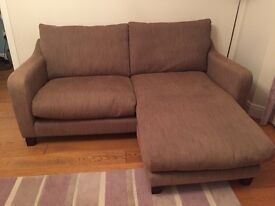 Sofa with switchable chaise and Armchair