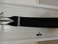 lovely long black formal dress in size 4 with beautiful delmonta effect