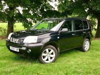2006 NISSAN X TRAIL 2.2 DIESEL ** NAVIGATION ** LEATHER HEATED SEATS ** MOT ( NO ADVISORY ) **