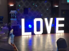 4ft light up Love letters. Weddings, engagements