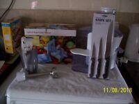 Hand blender, vegetable slicer, fruit juicer