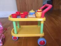 Tea set trolley