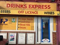 Off license and Convenience store for sale