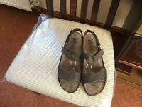 Worn once 'Mobils' Mephisto Air-Relax Leather Sandles. Size 41 Colour is pale brown. Like new.