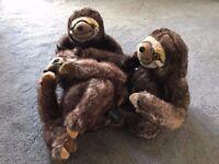 3 x Sofology Sloth toys