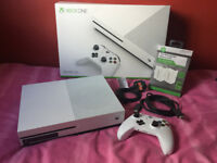 Xbox One S 500GB with controller battery pack *Used Once*
