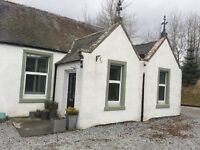 2 double bedroom cottage. 4 miles Huntly. Furnished or unfurnished.