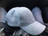 TOPMAN GREY TEXTURED BASEBALL CAP / HAT open to offers