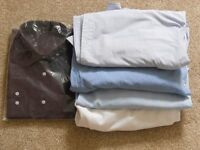 """Qty 5 Long Sleeved Men's Shirts 1 new in packet. All Size 17 1/2"""" collar"""