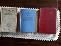 3 Vintage Cookery Books