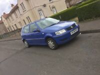 Polo 6n2 decent mileage. Cheep to run/insure perfect first car