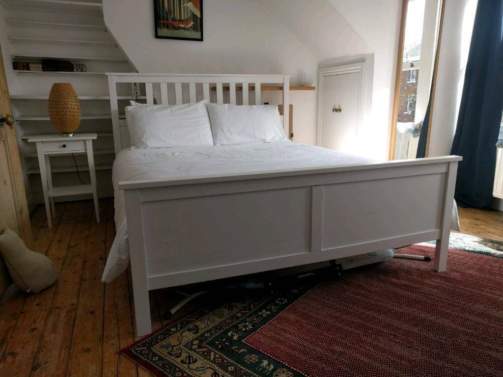 king size ikea hemnes bed sultan mattress in holloway london gumtree. Black Bedroom Furniture Sets. Home Design Ideas