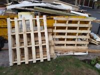Free pallets x3 and other bits of wood