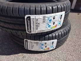 Continental ecotouch 165/60 15 tyres x2