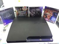 Playstation 3 Slim 160GB Boxed with Controller & x4 Games!