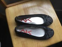 Black size 7 studded shoes