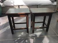 2 x small tables
