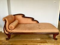 bespoke made CHAISE LONGUE upholstered with beautiful thai silk