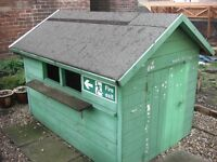 WOODEN GARDEN PLAYHOUSE
