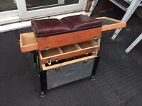 TWO DRAW WOODEN FISHING TACKLE BOX / SEAT BOX Ideal For Match Fishing