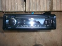 car stereo kenwood vgc usb aux cd only fitted 1 month with leads