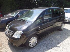 VAUXHALL Meriva LIFE, Cheap MPV, 1.6 Petrol, 5 Door Hatchback, 2004-04 plate