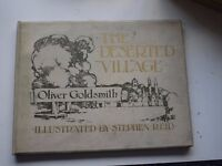 First Edition The Deserted Village Oliver Goldsmith 1907