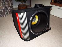 "Vibe Black Death AC 12"" 1800W Active Amplified Sub Subwoofer Bandpass Enclosure Bass Box"