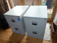 Two drawer lockable filing cabinet