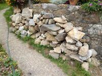 Rockery stone - or garden walling